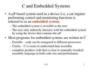 C and Embedded Systems