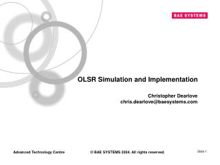 OLSR Simulation and Implementation