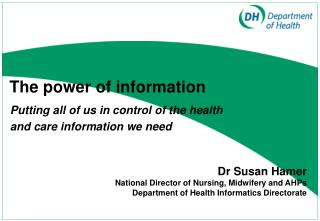 Putting all of us in control of the health  and care information we need