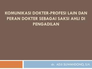 Komunikasi Dokter-Profesi Lain  dan peran dokter sebagai saksi ahli di pengadilan
