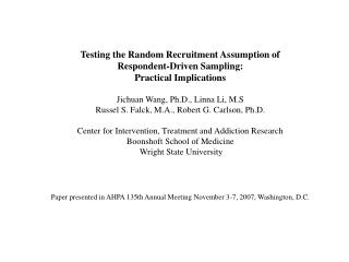 Testing the Random Recruitment Assumption of  Respondent-Driven Sampling:  Practical Implications