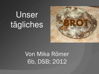 Von Mika Römer  6b, DSB; 2012