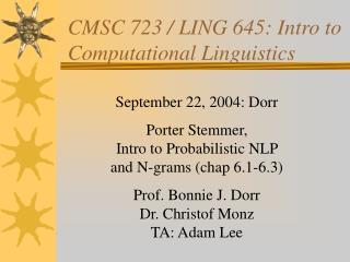 CMSC 723