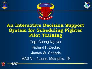 An Interactive Decision Support System for Scheduling Fighter Pilot Training