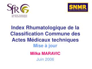 Index Rhumatologique de la Classification Commune des Actes M dicaux techniques   Mise   jour