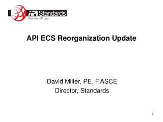 API ECS Reorganization Update