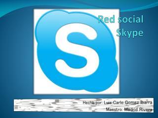 Red social Skype