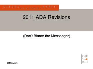 2011 ADA Revisions