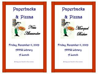 Paperbacks  &  Pizzas