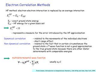 Electron Correlation Methods