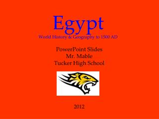 Egypt World History & Geography to 1500 AD