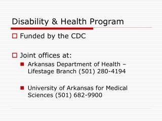 Disability  Health Program
