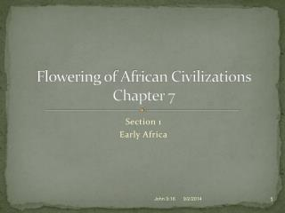 Flowering of African Civilizations Chapter 7