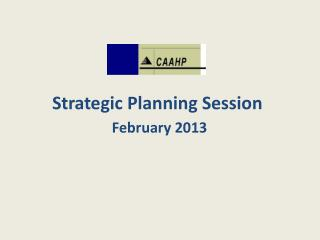 Strategic Planning Session February 2013