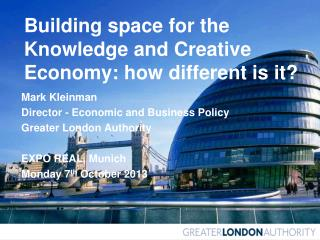 Building space for the Knowledge and Creative Economy: how different is it?