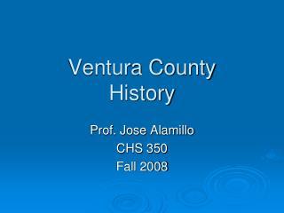Ventura County History