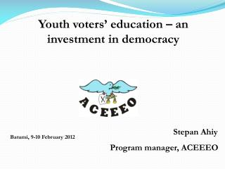 Youth voters' education – an investment in democracy