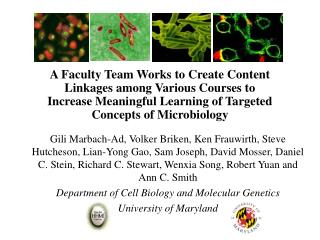 Linking  Courses  to foster in depth and research oriented learning of  Host-Pathogen Interactions