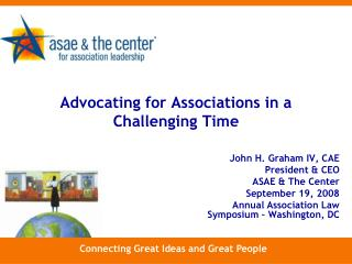 Advocating for Associations in a Challenging Time