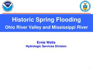 Historic Spring Flooding Ohio River Valley and Mississippi River