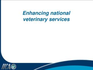 Enhancing national  veterinary services