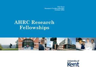 AHRC Research Fellowships