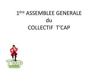 1 ère  ASSEMBLEE GENERALE du COLLECTIF  T'CAP