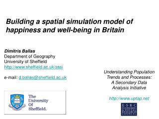 Building a spatial simulation model of happiness and well-being in Britain