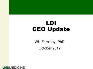 LDI  CEO Update