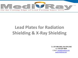 Lead Plates for Radiation Shielding and X-Ray Shielding