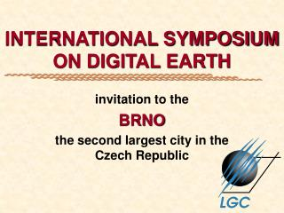 INTERNATIONAL SYMPOSIUM ON DIGITAL EARTH
