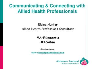 Communicating & Connecting with Allied Health Professionals