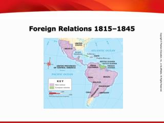 Foreign Relations 1815–1845