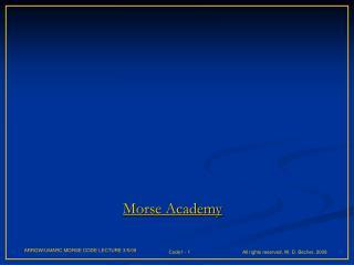 Morse Academy
