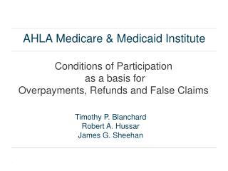 AHLA Medicare & Medicaid Institute