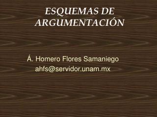 ESQUEMAS DE ARGUMENTACI�N