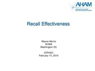 Recall Effectiveness