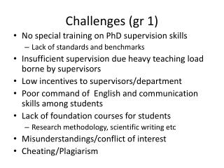 Challenges (gr 1)