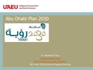 Abu Dhabi Plan 2030