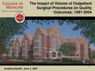 The Impact of Volume of Outpatient Surgical Procedures on Quality Outcomes: 1997-2004