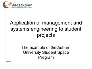 Application of management and systems engineering to student projects