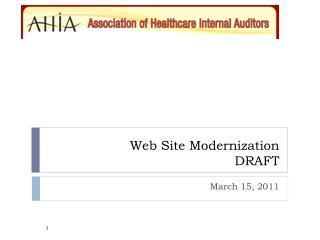 Web Site Modernization DRAFT