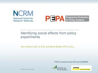 Identifying social effects from policy experiments