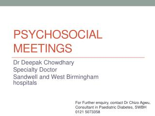 Psychosocial meetings
