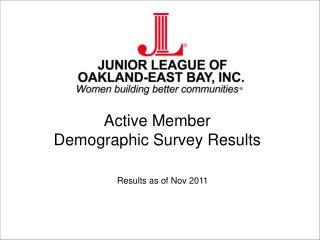 Active Member  Demographic Survey Results