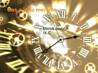 Čas a jeho meranie