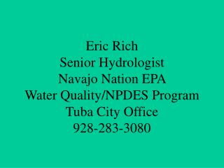 Navajo Nation Environmental  Protection Agency