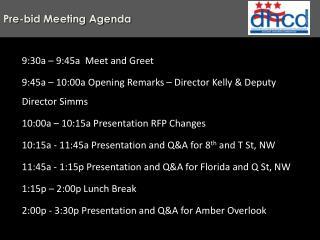 Pre-bid Meeting Agenda