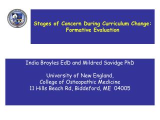 Stages of Concern During Curriculum Change:   Formative Evaluation
