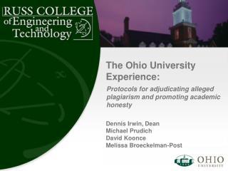 The Ohio University Experience: